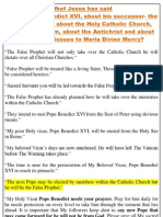What Jesus has said