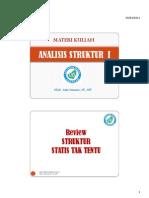 Materi Kuliah Analisis Struktur i (Hal 1 ~ 50)