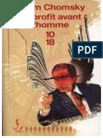 Le Profit Avant l Homme Chomsky Noam