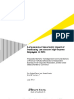 EY Study Long-Run Macroeconomic Impact Increasing Tax Rates on High Income Taxpayers 2013 20120716FINAL