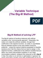 Artificial Variable Technique-big m Method