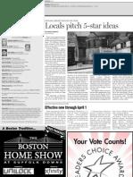 Dedham Transcript Jan. 13, 2011 Locals pitch 5-star ideas
