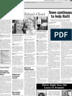 Dedham Transcript June 12, 2010 A peek inside Callahan's Closet