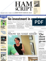Dedham Transcript May 19, 2011 The show must go on