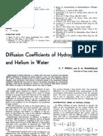 Diffusivity Coefficient of Hydrogen