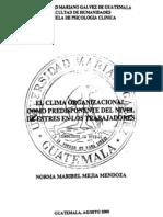 tesis clima organizacional