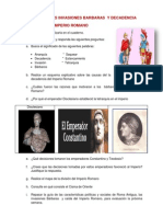 ACTIVIDAD DE LAS INVASIONES BARBARAS  Y DECADENCIA DEL  IMPERIO ROMANO 7°-13