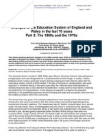 Part 3-Changes to the Education System of England and Wales 1960-1970s