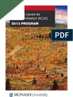 Australian Centre for Jewish Civilisation (ACJC) Program 2013