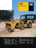Caterpillar 416E Backhoe Loader Specification
