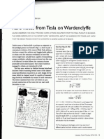 Rare Notes From Tesla on Wardenclyffe (Leland Anderson)
