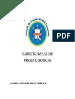 Cuestionario de Prostodoncia