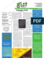 Gist Weekly Issue 12 - Language Trivia