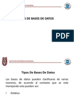 Eq. 2 Tipos de Base de Datos
