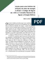 Contribuição para uma história da regulamentação do setor de energia elétrica no Brasil