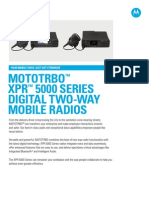 Mototrbo Xpr 5000 Series Spec Sheet