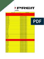 Lista de Precios Premier