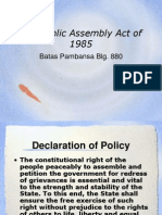 Public Assembly Act