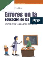 Errores en La Educacion de Los Hijos