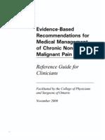 CPSO Recom Chronic Pain