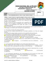 Resolución de segundo examen I-2012