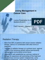 Nursing Management in Cancer Care