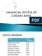 Finiancial Ratos of Canara Bank