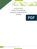 Bloque Campo De Formacion Lenguaje  y comunicación Español
