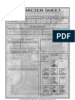 Inquisitor Character Sheet
