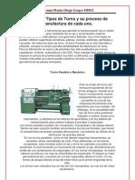 Distintos Tipos de Torno y Proceso de Manufactura