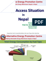 Op Session - Energy Access Situation in Nepal