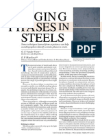 Hints for Imaging Phases in Steels