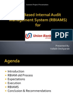 Risk Based Internal Audit Management System