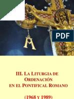 Liturgia de Ordenacion en El Pontifical Romano 1968-1989