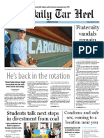 The Daily Tar Heel for February 15, 2013