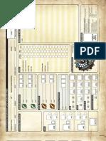 Iron Kingdoms Character Sheet