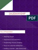 Module 2- Salesmanship