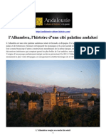 l'Alhambra, l'histoire d'une cité palatine andalusi