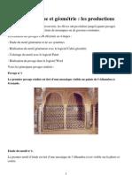 Art islamique et géométrie - les productions