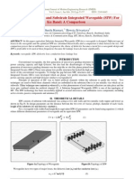 Losses in Waveguide and Substrate Integrated Waveguide (SIW) For Ku Band