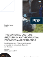 The Material Culture Return in Anthropology