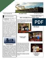 RCBKS Bulletin Vol 21 No 28