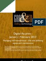 Managing mill maintenance - Die and pelleting equipment maintenance