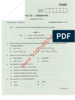 Chemistry March-2011 Question papers of QUESTION PAPERS OF HIGHER SECONDARY EXAMINATION of Tamilnadu board of Education, 12th Class