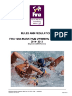 Fina 10km OWS 2012 Rules