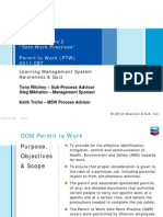 Permit to Work Cbt (Chevron) Training Presentation