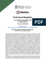 Professional Regulation Seminar - Further Details