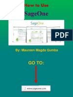 How to Use SageOne