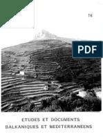Etudes et documents Balkaniques et Mediterraneens - 16 , 1992