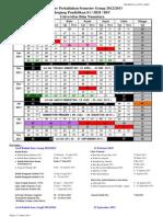 Kalender Perkuliahan S1 Semester Genap 2012-2013